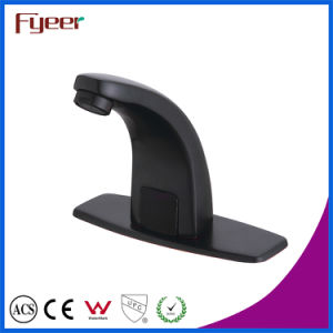 Fyeer New Cold and Hot Water Washbasin Black Sensor Tap with Temperature Adjust Valve pictures & photos