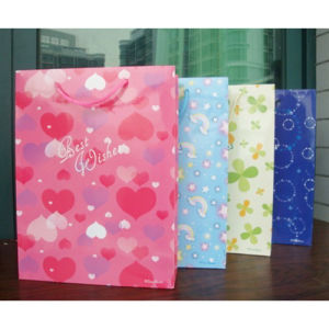 Paper Shopping Bag with Satin String (PB07)