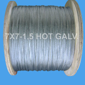 7X7-1.5 Galvanized Steel Wire Rope (DSCF0512) pictures & photos