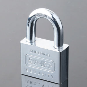 Chrome Plated Square Plating Atom Padlock pictures & photos