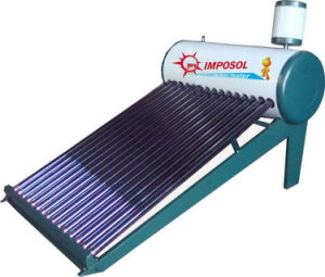 100L-300L Nonpressure Galvanized Steel Vacuum Tube Solar Water Heater pictures & photos