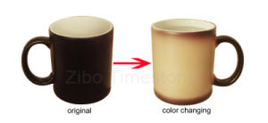 Porcelain Changing Color Mug (CM-002) pictures & photos