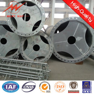 Safety Factor 2.1 Galvanized Steel Poles Utility Pole for 11.88m-462dan pictures & photos
