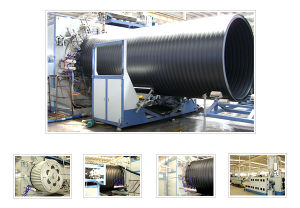 HDPE Large Diameter Hollow Wall Winding Pipe Production Line (SKRG1200-2200)