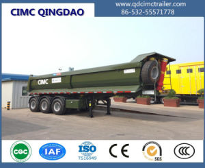 Cimc 50ton Stone Sand Coal Loading Heavy Duty Tipper Trailer Dump Truck Chassis pictures & photos