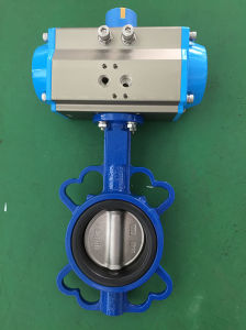 Pneumatic Wafer Butterfly Valve with pictures & photos