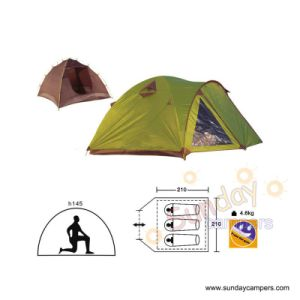 3 Men Double Layers With Individual Camping Tent (SCC-907) pictures & photos