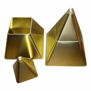 Pyramid-Shaped Tin Box (D-093)
