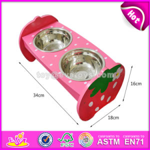 High Quality Safety Double Pet Feeder Wooden Dog Water Bowl and Food Bowl W06f047 pictures & photos