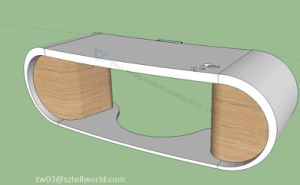 Tell World Own Design Round Adge Google Desk Side Table Goggle Desk pictures & photos