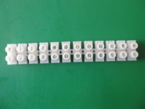 60AMP Plastic White Screw Terminal Block (Strip Connector) pictures & photos