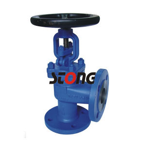 DIN Angle Type Bellow Seal Globe Valve pictures & photos