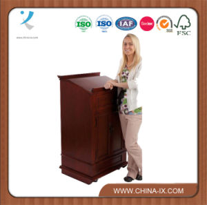 Executive Podium Features Rolling Wheels for Mobile Presentations pictures & photos