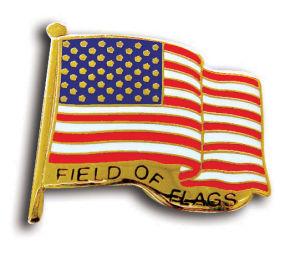 Metal USA Flag Gold Pin for Function (JINJU-0092)