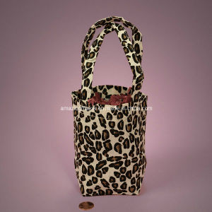 Animal Print Cotton Basket Bags (AM-CB003)