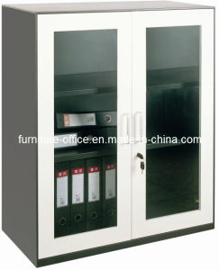 Steel Office Cupboard with Glass Door pictures & photos