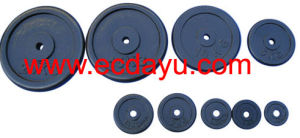 Dumbbell / Black Cast Iron Weight Plate (DY-WP-011)