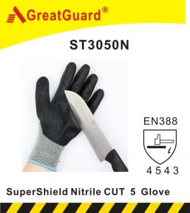 Greatguard Thinner Finish Supershield PU Cut 5 Glove (ST3050KP) pictures & photos