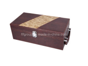 New Design Hot Selling Red Leather Wine Box (FG8010) pictures & photos