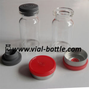 7ml Serum Glass Vial with Red Crimp Flip Tops and Butyl Rubber Stopper pictures & photos
