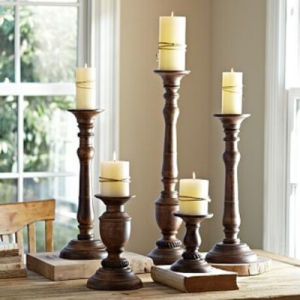 Wooden Candle Holder with Pillar, Candle Stand Holder pictures & photos
