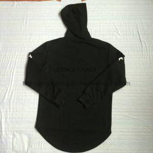 Men′s Zip-up Fleece Coat with Hood in Adult Sports Wear Fw-8627 pictures & photos