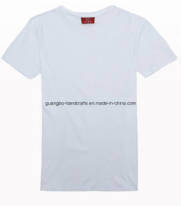 Custom Cheap Wholesale Promotional 100% Cotton White T-Shirt pictures & photos