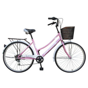"26"" Steel Frame City Bicycle with Shimano 6sp"