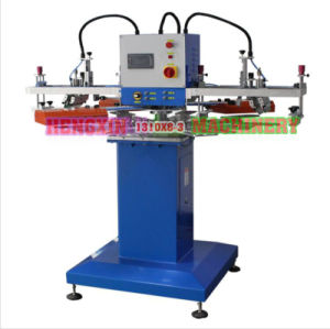 Three Color Flatbed Rotary Screen Printer pictures & photos