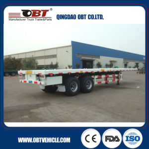 2 Axles 20FT Flatbed Container Semi Trailer From Factory pictures & photos