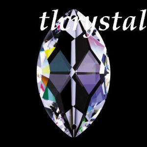 8746 Crystal Oval Pearshape-Crystal Chandelier Part