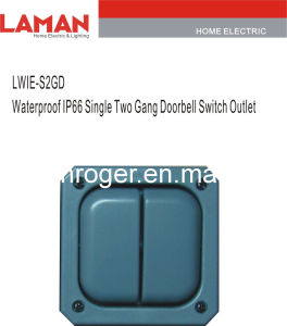 LWIE-S2GD IP66 Wateproof Single 2gang Doorbell Switch Outlet