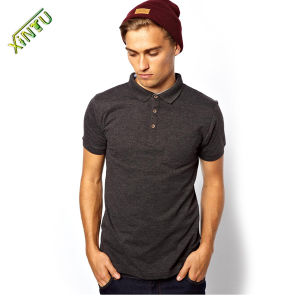 Hot Sell Cotton Knit Collars Mens Polo T Shrit pictures & photos