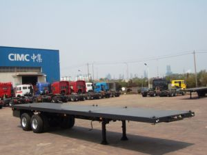 Fatbed Trailer with Single Point Suspension pictures & photos