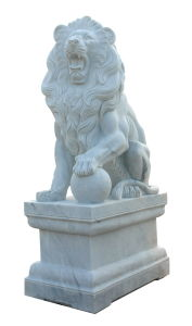 White Marble Lion Carving Sculpture (ANL052) pictures & photos