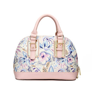 Flower Printing Lady Fashion PU Leather Women Handbag (MBNO037115) pictures & photos