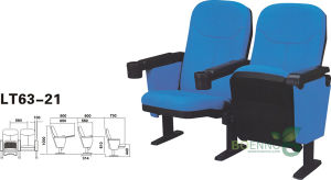 Auditorium Hall Chair with Cup Holder (LT63-21)