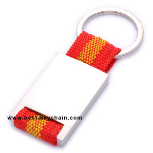 Spain Flag Braid Ribbon Key Chain Metal Souvenir Gifts (BK11285A) pictures & photos