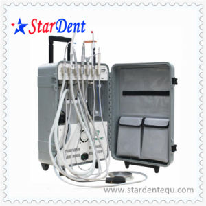 Dental Unit High Volume Suction Portable with Curing Light/Scaler pictures & photos