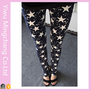 Enough Stock Women Skinny Printed Star Leggings pictures & photos