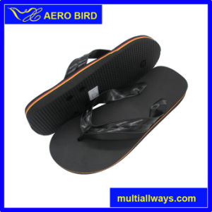 Classical Style Black PVC Slippers for Men pictures & photos