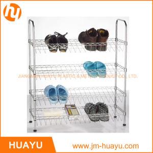 Hot Sale OEM 4-Tier Wire Shoe Shelf Unit pictures & photos
