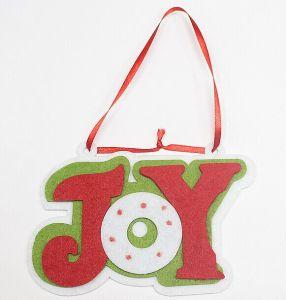 Non-Woven Fabrics Joy Christmas Tree Pendant pictures & photos