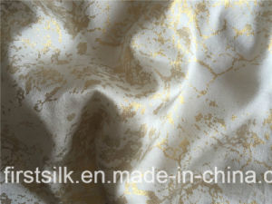 100%Silk Charmuse Foil Printing Fabric pictures & photos