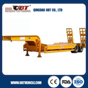China Factory 3 Axles 30t-46t Hydraulic Low Bed Semi Trailer pictures & photos