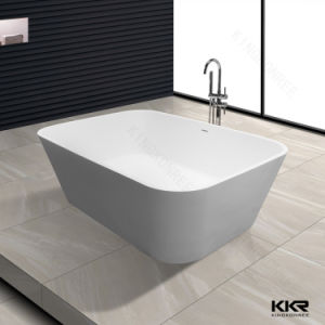 Kkr Square Solid Surface Bathtub Artificial Stone Bath Tub pictures & photos