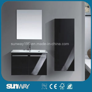 New Double Sink Wall Mounted Bathroom Vanity Set with Mirror pictures & photos