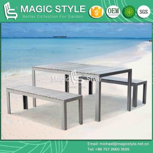 Poly Wood Dining Set Aluminum Dining Stool Patio Dining Stool Outdoor Dining Set (Magic Style) pictures & photos