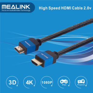 2.0 Dual Color Connector HDMI Cable (Support 3D 4Kx2K 1080P HDTV) pictures & photos