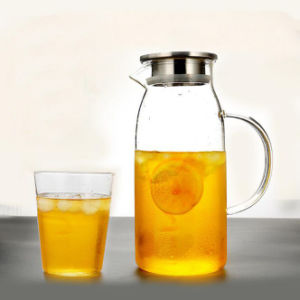 Fruit Juice Glass Pot Set Glassware Pitcher Coffee Tea Jug pictures & photos